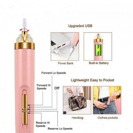 Пила за оформяне на нокти 5в1, с USB
