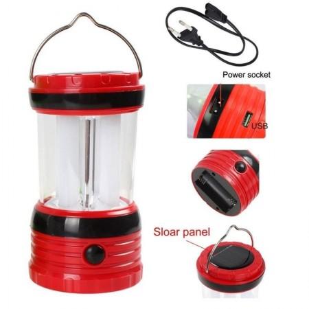 ПРОМО ОФЕРТА❗️ Мощна презареждаща се къмпинг LED лампа с вградени батерии зареждане солар / 220V RY-T97