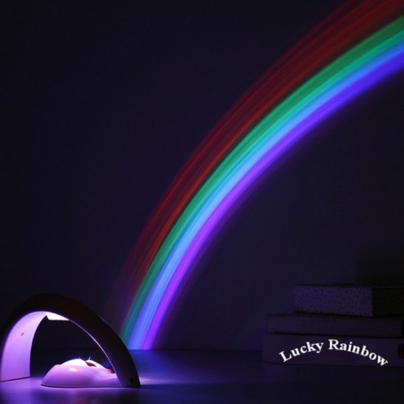 Детска нощна LED лампа с проектор Дъга