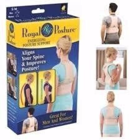 Колан за изправяне на гърба с функция масаж с 12 магнита