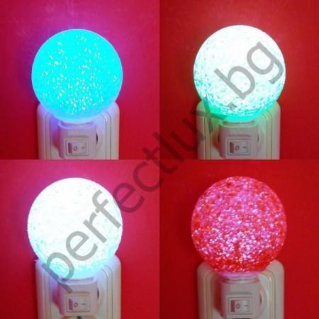 Декоративна нощна лампа Кристална топка