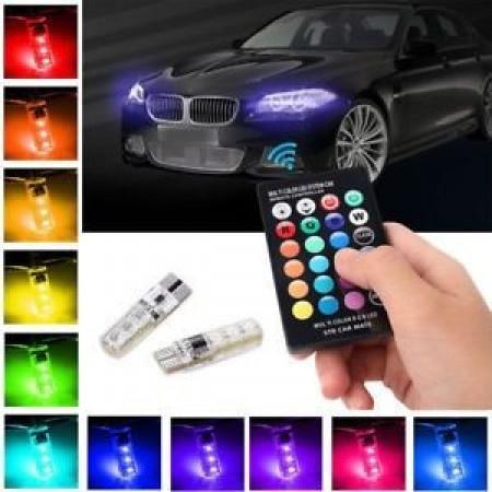 2 броя Диодни крушки (LED крушки) с дистанционно 16 цвята 4 режима