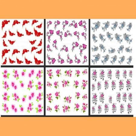 Ваденки за маникюр цветя