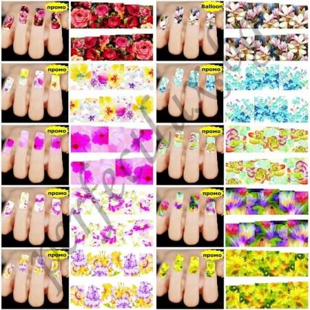 Ваденки за маникюр, цял нокът 100 бр. + 14 бр. ваденки за френски маникюр