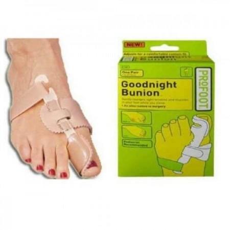 Нощна шина (ортеза) за изправяне на пръсти GOODNIGHT BUNION - 2 бр.
