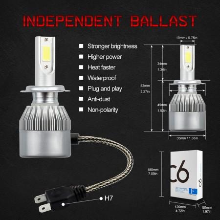 Комплект LED диодни крушки за фарове