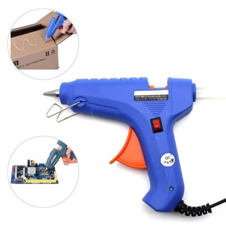 Пистолет за топъл силикон + подарък StickIt консуматив