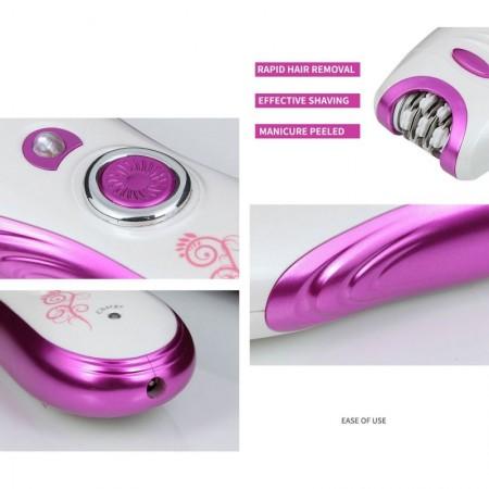 Комплект епилатор, тример, пила за нокти с пет приставки KM-3026 3 in 1