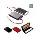 Портфейл за документи и карти – преносимо зарядно Power Bank 2800 mAh