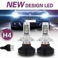 LED крушки за фарове с вентилатор PLATINUM X3, 6000LM