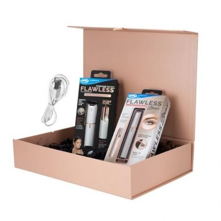 ПРОМОПАКЕТ❗️ Flawlless за лице с USB + Flawlless Brows с USB за почистване на вежди.