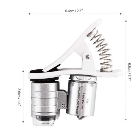 Универсален джобен микроскоп за телефон с увеличение 60 пъти
