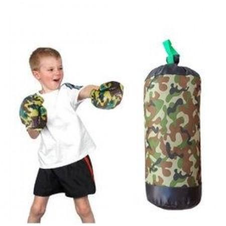 Детска боксова круша с ръкавици