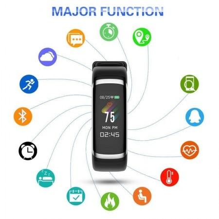 Влагоустойчива смарт гривна Smart technology М4, Пулс, Кръвно налягане