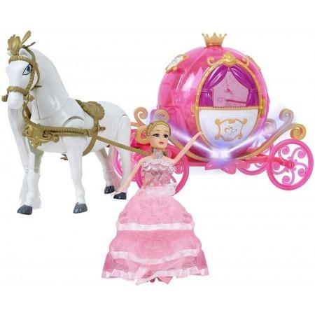 Кукла - принцеса - с каляска и конче с музика и светлина