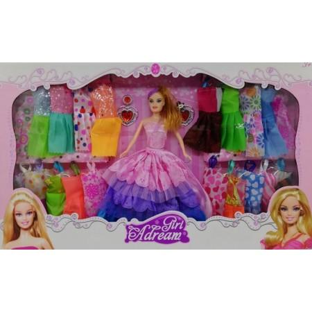 Кукла с 21 броя рокли за преобличане + аксесоари