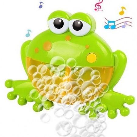 Детска музикална машинка за балончета Жаба