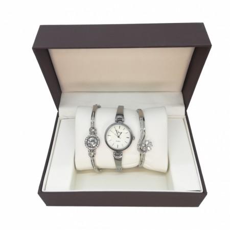 Стилен дамски часовник + 2бр. красиви гривни