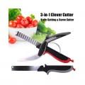 Clever cutter 3 в 1 Кухненска Ножица с вградена дъска