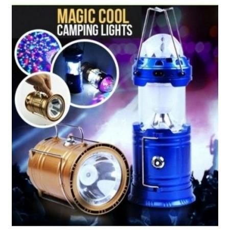 Соларен къмпинг LED фенер с диско лампа