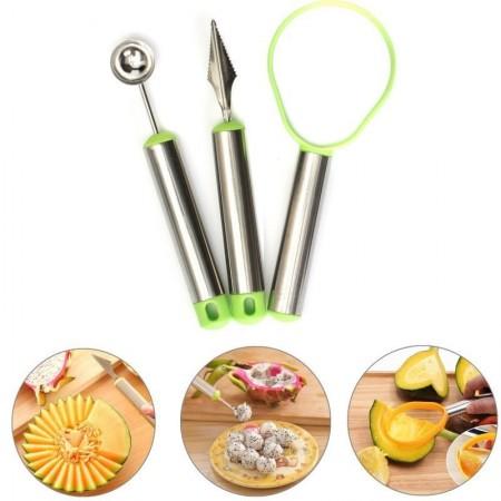 ПРОМО ОФЕРТА❗️2бр. Сет за рязане и декориране на плодове и зеленчици