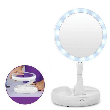 ПРОМО ОФЕРТА❗️ 2БР. Козметично увеличително, сгъваемо LED огледало