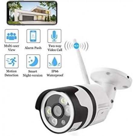 Охранителна, широкоъгълна безжична Wifi камера за домашно наблюдение Arespark, FHD 1080P, Водоустойчива