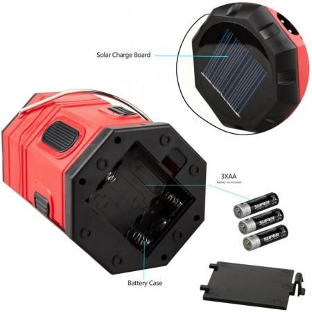 Сгъваем соларен LED фенер Automat, USB изход RY-T939