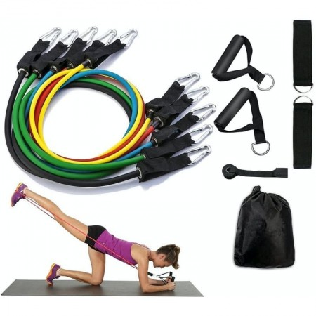 Комплект фитнес ластици за трениране