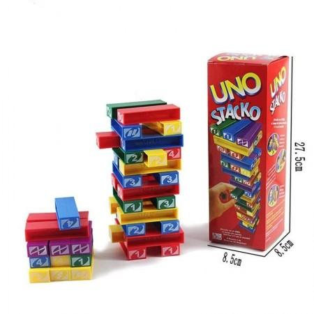 Семейна игра УНО КУЛА ОТ ПЛОЧКИ Uno Stacko