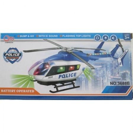 Полицейски хеликоптер със звукови и светлинни ефекти