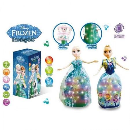 Танцуваща и пееща кукла Анна или Елза с LED светлина.