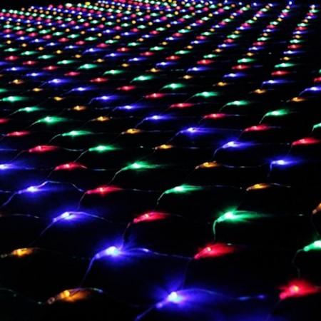 Коледни лампички LED, тип Мрежа, 2 M X 2 M, Свързани Помежду Си