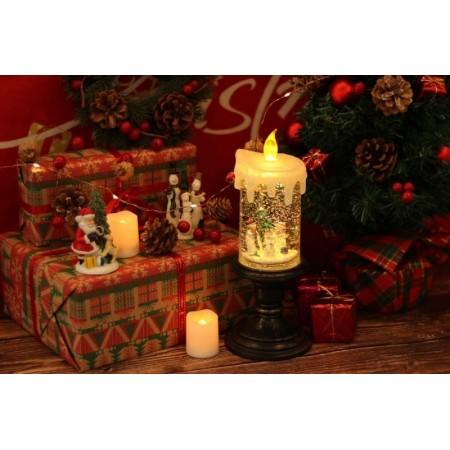 Коледна LED Цветна Свещ