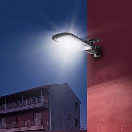 Външна лампа със соларен панел и датчик за движение JX-518, 120W