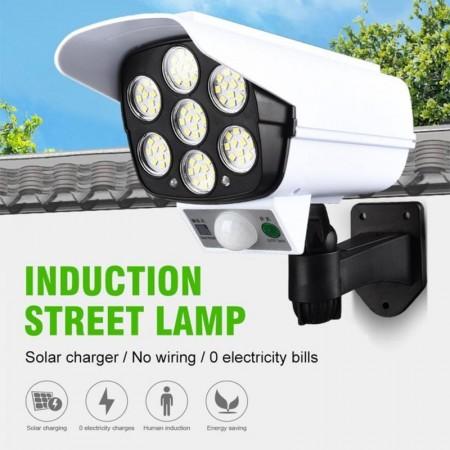 Фалшива охранителна камера, LED прожектор със соларен панел.