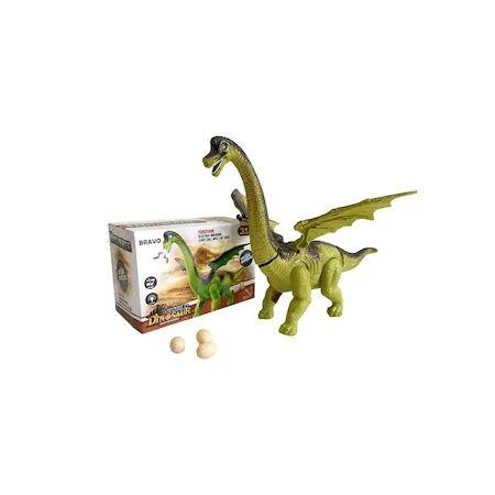 Динозавър с криле снасящ яйца, светлини и звуци