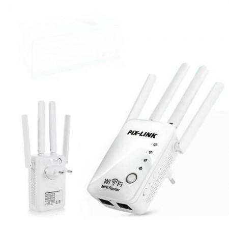 Усилвател на WiFi Безжични мрежи, Рипийтър, WiFi Router с външна антена PIX-LINK WR16Q