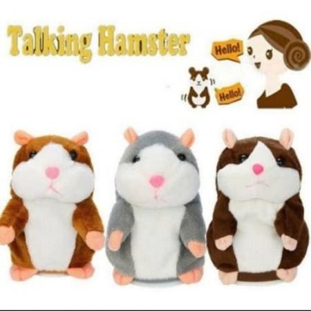 Забавна плюшена играчка - Говорещ хамстер