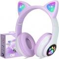 Слушалки CAT STN-28, Светещи, BT5.0, Микрофон, AUX IN, TF, MP3 плейър