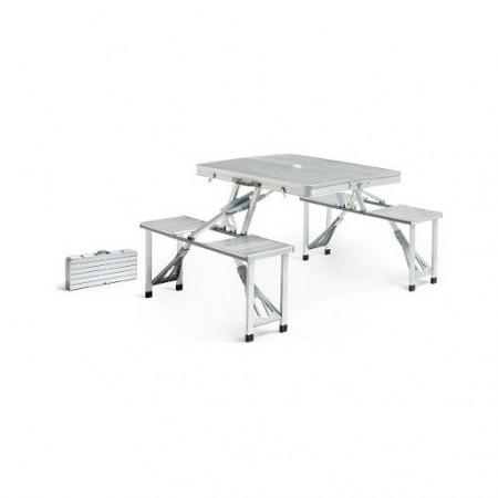 Алуминиева маса със 4 стола за пикник