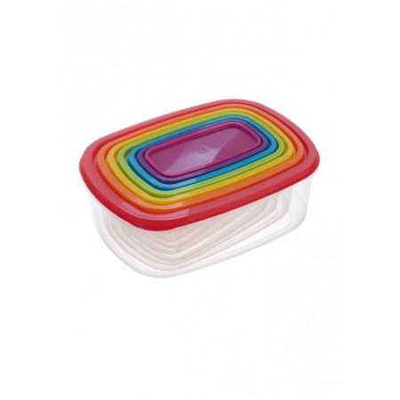 Комплект от 7 броя кутии за храна с капак