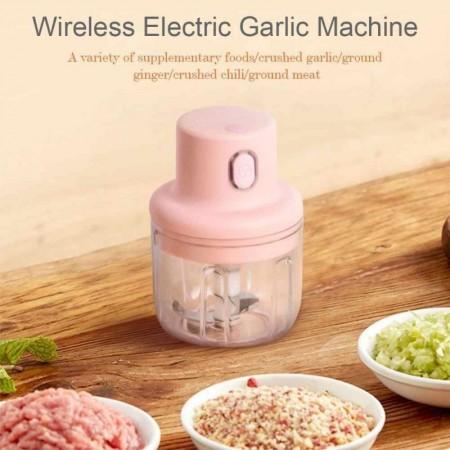 Домашен електрическа безжичен мини кухненски чопър 250ml за месо,чесън зеленчуци и др.