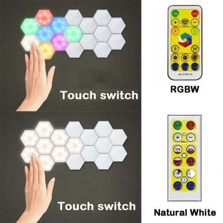 3 бр. RGB LED лампички с дистанционно.