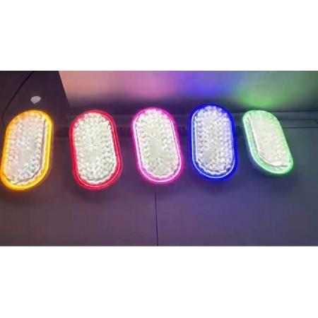 LED плафониера двуцветна за външен монтаж KSR/68W +18W 6800Lumen, овал
